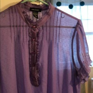 Tops - Purple Sheer Blouse Top